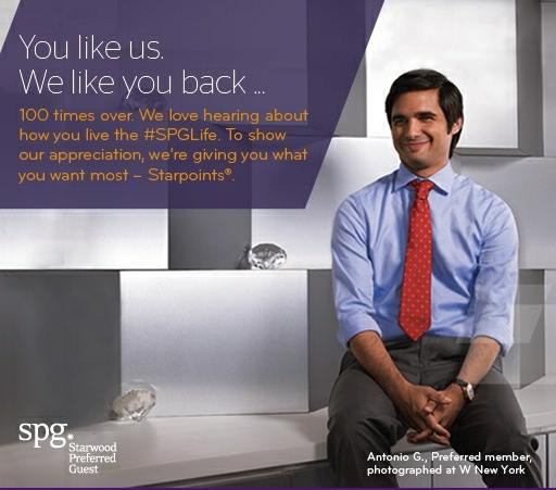 100 Free SPG Points For Liking Them On Facebook