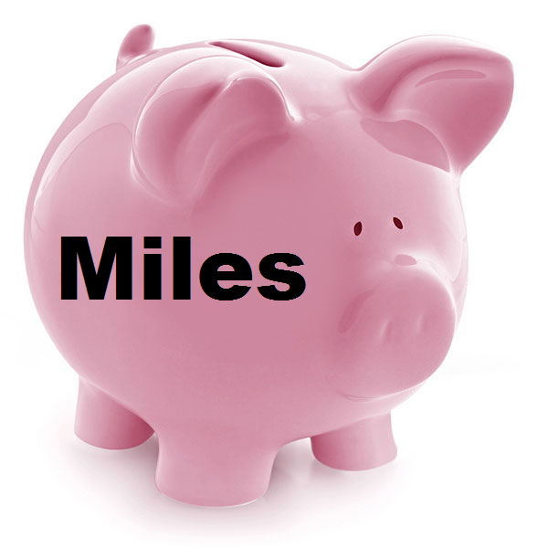 Frequent Flyer Miles Piggy Bank