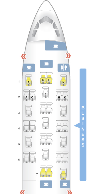 Brussels Airlines Seat Map