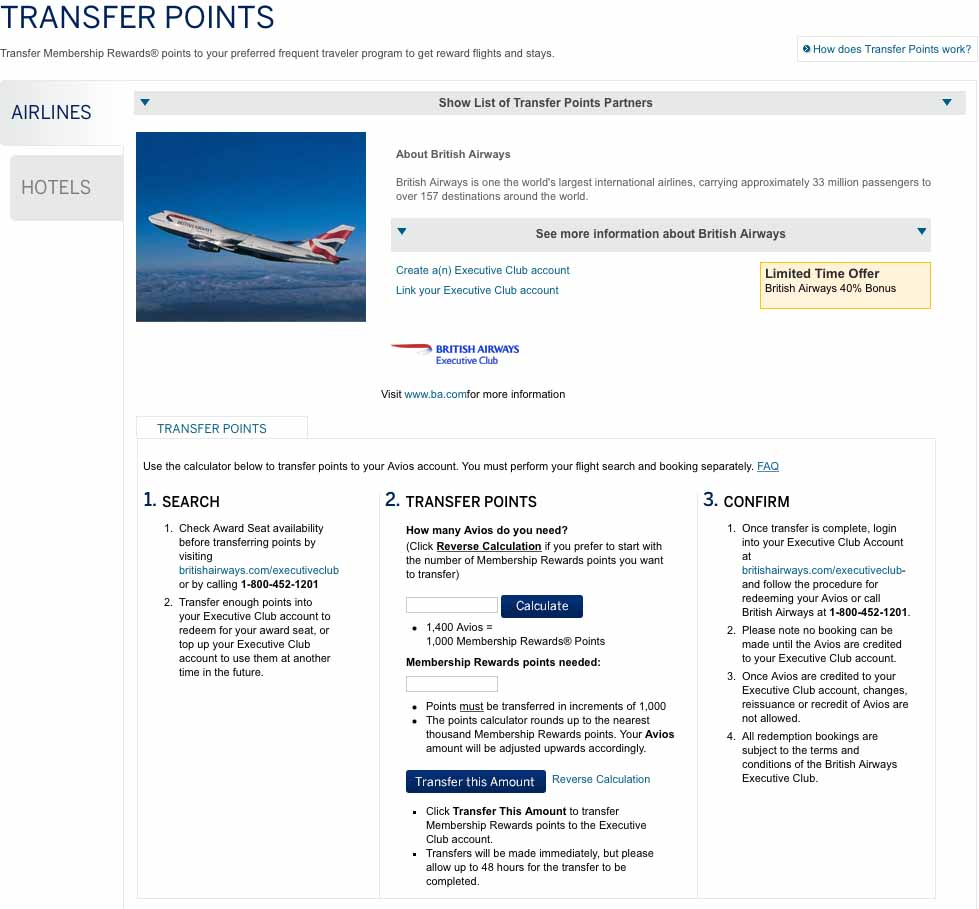 Amex Membership Rewards Transfer 5