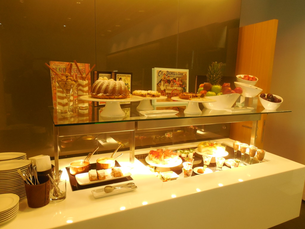 Food bar in First Class Lounge