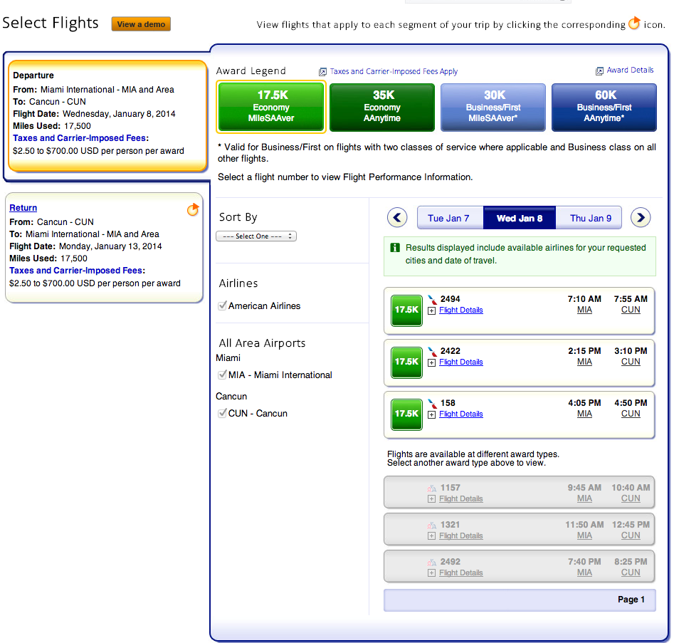 How To Book An American Airlines Aadvantage Award Ticket