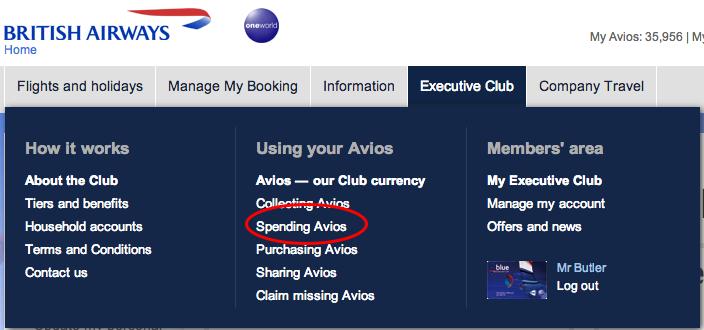 BA Spend Avios