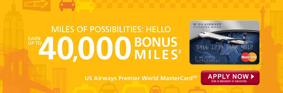 US Air Bonus Banner