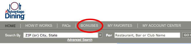 dining bonuses
