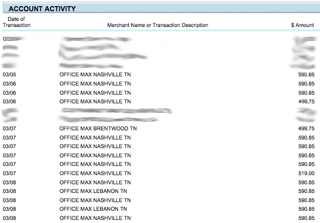 Chase Transactions