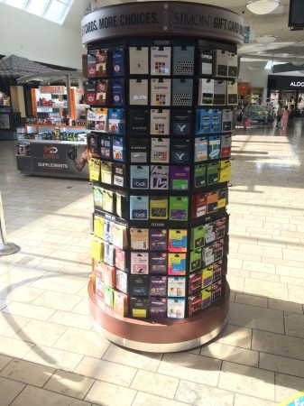 Simon Mall Gift Card Rack