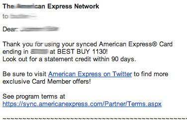 Amex Email