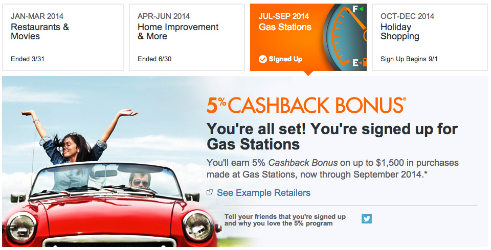 Discover Signed Up Gas