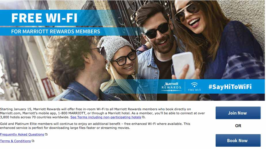 Marriott Free Wifi