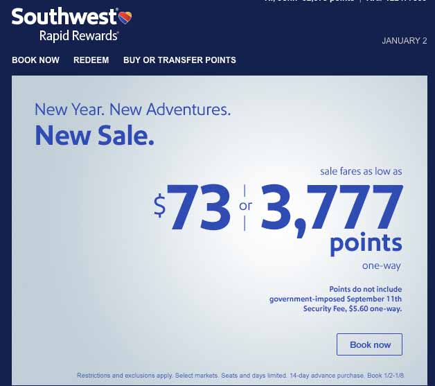 Southwest 2015 Sale