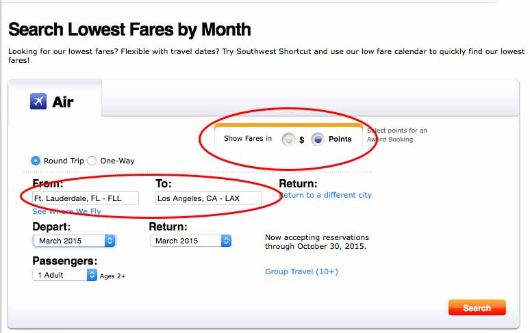 Second Secret to Savings on Southwest 2