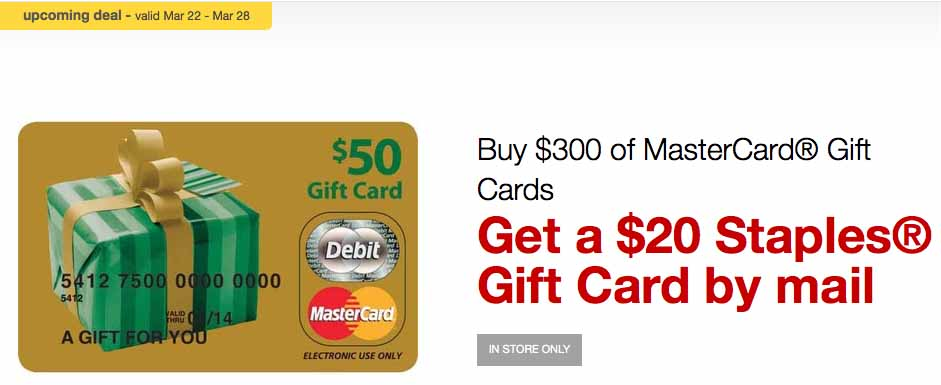 Staples Mastercard Offer