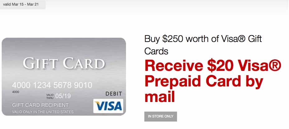 Staples Visa Gift Card Offer
