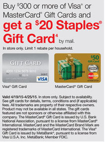 Staples Gift Card promo